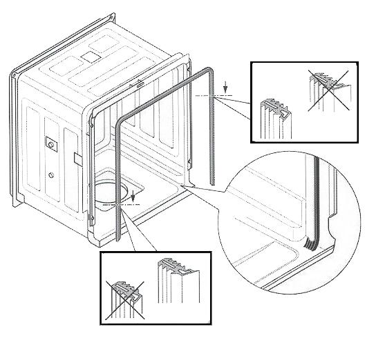 Het Bosch Siemens vaatwasser deurrubber in te bestellen in onze ...