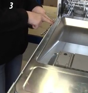 Vervangen veer deur vaatwasser