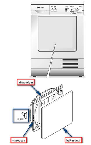 Siemens Bosch Wasdroger Deur Haak 00154074 Plaatsen Vervangen Wtl
