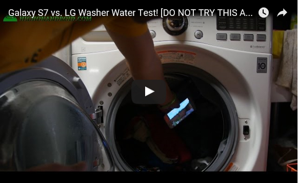 Galaxy S7 getest in wasmachine op waterbestendigheid Video