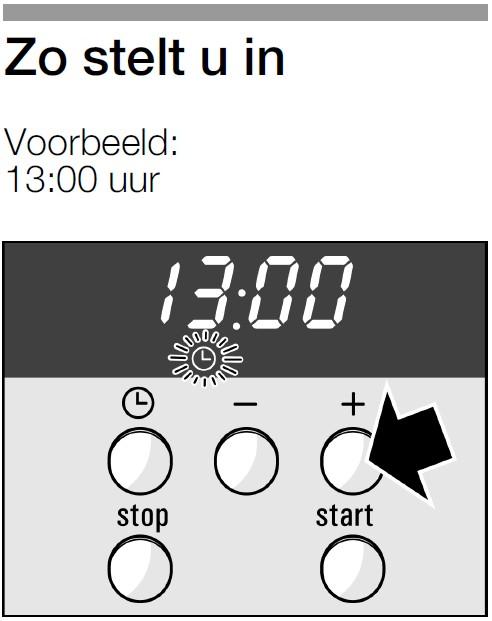 Bosch- siemens-klok-instellen